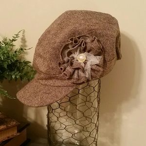 Ladies Modern Embellished Newsie Hat